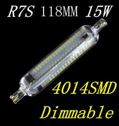 Livraison gratuite NOUVEAU Dimmable R7S Lampe LED 15W SMD4014 118mm LED R7S Ampoule 220-240V Remplacement d'un remplacement d'économie d'énergie à partir de lampe halogène 15w conduit fabricateur