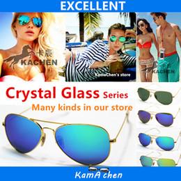Gafas de sol de color rosa en Línea-KaChen marca espejo rosa verde azul plata UV400 protección popular hombres originales chica vacaciones gafas de sol gafas de sol