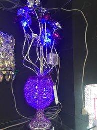 Wholesale Purple glass lamp manufacturers selling aluminum wire for room decoration aluminium lamp