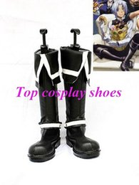 Wholesale Freeshipping D Gray Man Allen Walker Black Cosplay Boots shoes hand made Custom made for Halloween Christmas