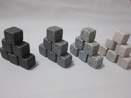 100% Natural Whisky Stone 6pcs Set Whiskey Stone Rock Ice Stones Wine Accessories Sipping Stones
