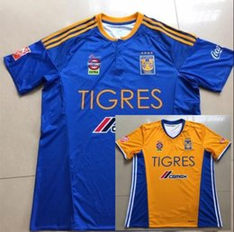 Wholesale DHL Mixed buy Tigres UANL soccer jersey thai quality Mexico club Tigres UANL home yellow GUERRON GIGNAC soccer football jerse
