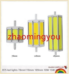 YON 1PCS R7S COB led bulb Dimmable R7S led lights 78mm118mm 189mm 10W 15W 20W lighting lamp AC85-265V replace halogen floodlight