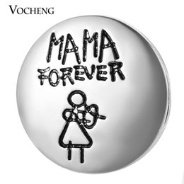 VOCHENG NOOSA Mothers Day Gift 18mm MAMA Forever Interchangeable Snap Button Jewelry Vn-1006