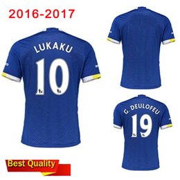 Wholesale 2016 top new Evertonizers Adult T shirt Home maillot de Football everton Shirt soccer jersey shirts