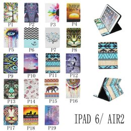 Wholesale Hot Sale Coloured Unique Leather Tablet Case For Apple iPad Mini iPad Air Air2 Smart Cover Stand Case With Card Slot Holder