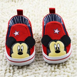 Baby first walkers shoes baby sport shoes cotton shoes cartoon mickey shoes color red size 11-13cm 2016 kids shoes children shoes.2637