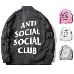 Wholesale Winter Brand ASSC Wind Proof Jacket ANTI SOCIAL CLUB Mens Coaches Jackets Hip Hop Women Duster Coat Waterproof Trench Coats