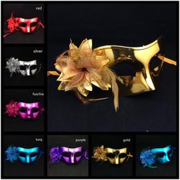 Luxury Party Mask lateral flower Masks Half Face Man Mask Venetian Masquerade Masks Venetian Carnival Masks mix color free shipping