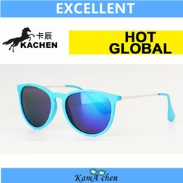 Wholesale KaChen Black leopard frame Green Bottle Brown erika Lens UV400 ERIKA protection sunglasses glasses men women