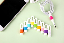 Wholesale 500pcs Earphone Cable Winder Cord Organizer Management Bobbin Wrap Digital Cable Protector For iPhone Earpods only Links Cord