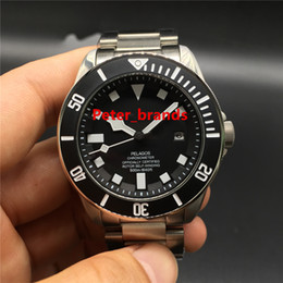 Wholesale Luxury High Quality Pelagos Automatic watches TN black dial Titanium color case real photos men s wristwatch