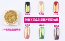 Wholesale Buy Cheap best Quality Colorful Nail Glitter Powder Shinning Mirror Effect Nail Makeup Powder Nail Art hot item