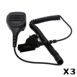 Wholesale Waterproof Handheld Speaker Mic Shoulder Microphone mm Mono Jack for Motorola CB Radio HT1000 GP900 MT2000 MTX XTS