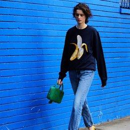 Wholesale Chic Acne Studios Collection Emoji Inspired Men Hoodie Banana Doughnut Embroidery Womens Pullovers Unisex Sweatshirts Streetwear Jumpers