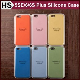 Wholesale For iPhone S Plus S SE Official Silicone Case With Logo Soft Cloth Inner Skins Phone Cover with Retail Package