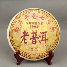 Wholesale 357g AAAAA grade Most Traditional Puer tea Yunnan Chi Tse Beeng Cha Menghai Pu er Ripe Tea for Weight loss