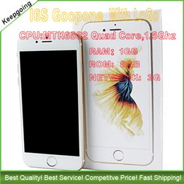 Wholesale Goophone I6S Iphone S inch G network clone phones MTK6582 Quad Core Ghz RAM G ROM G andorid cell phones VS S7 S6 Note