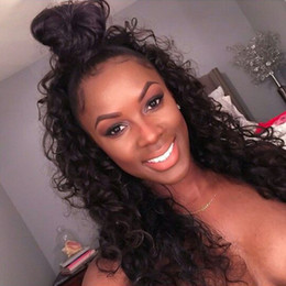 Loose Curly Wave Indian Hair Lace Front Wig 130% Density Natural Color Human Hair Wigs Curly Glueless Full Lace Wig With Baby Hair