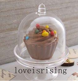 Promotion boîte de petit gâteau de faveur de fête de mariage Nouveaux arrivages - 20pcs / lot Mini blanc clair Cupcake boîtes Wedding Favor Caisses pour Lovely Baby Shower Party Supplies boîte à gâteau boîte à bonbons