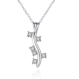 Wholesale New products listed fashion jewelry Silver plated cubic zirconia caterpillar women pendant necklaces
