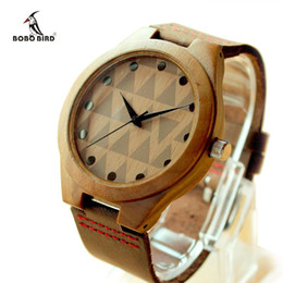 Classical Model Bamboo Wooden Wristwatch With Genuine Cowhide Leather Band Lovers Luxury Wood Watches For Men and Women