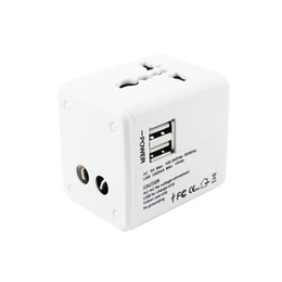 2 USB port Worldwide Travel Adapter AC TO USB Power Wall Charger US EU UK AU Plug 5V 2.1A For tablet pc Mobile phone