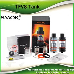 Wholesale Authentic SMOK TFV8 Cloud Beast Tank ml with V8 T8 Octuple Coil V8 Q4 Quadruple Coils Head smoktech TFV8 Tank DHL Free