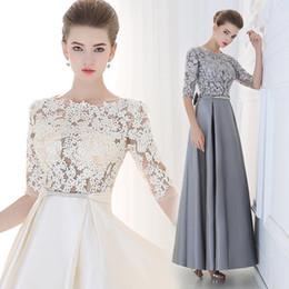 Trajes de la astilla en Línea-2016 Elegant Sliver barato rosa madre de vestidos de novia con mangas largas El desgaste formal de la madre Plus Size Groom trajes de vestidos de novia para las mujeres