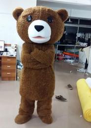 2017 hot sale tedy costume adult fur teddy bear mascot costume free shipping