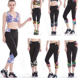 Sexy Women High Waist Tights Capri Pants Sport Trousers Female Cropped Pants Leggings Fitness YOGA Running Gym Pants