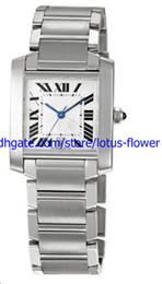 LUXURY Brand New AAA Top Quality Wristwatch TANK FRANCAISE LARGE WATCH WITH NATURAL DIAMONDS W51002Q3