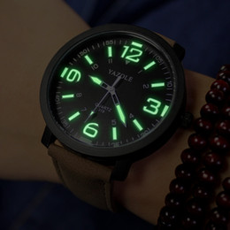 Casual Mens Watch Luminous Hands Big Round Dial Dress Watch for Man Woman Brand New Fashion Leather Band Man Sport Watch