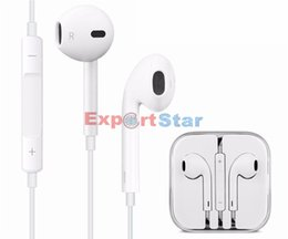 Wholesale I phone earphones with microphone in acrylic case strong bass use for g pad in multi colors