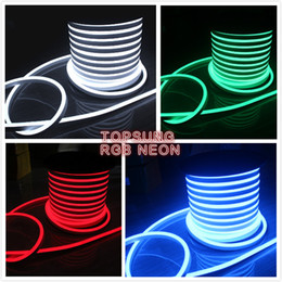 50m spool 14*26mm super bright flexible led neon lights 24V 120SMD M neon tube lighting single color   RGB led neon flex waterproof