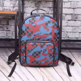 Wholesale Familiar with the classic lattice backpack cattle leather backpack men and women neutral Backpack