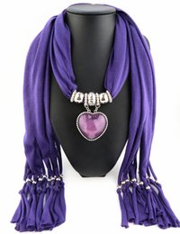 Newest Cheap Fashion Women Valentine's Day Scarf Direct Factory Jewelry Tassels Scarves Women Resin Heart Scarves Shawl