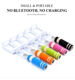 mini cable selfie stick monopod camera and new model for take pictures for iphone samsung & android system mobile with 5 colors