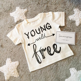 fashion baby summer clothes Kids Letter Print Tops Ins cotton t shirt Girl Boy short sleeve Size90-130