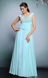 Wedding Dresses Sleeveless dress Light Blue Chiffon Mesh long skirt Pleast Beaded Back Keyhole Zipper at Sideseam
