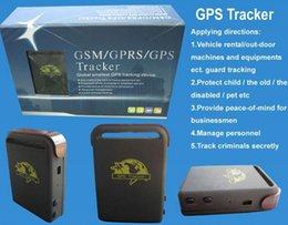 Wholesale RealTime GPS Tracker GSM GPRS System Sim Card Vehicle Tracking Device TK102 Mini Spy for kids Car Track Real Time