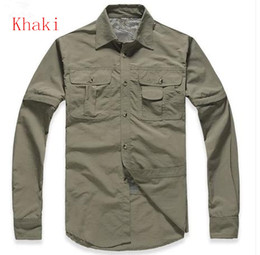 Selling! Spring and autumn men's outdoor long-sleeved shirt short-sleeved removable waterproof hiking camping mountaineering UV coat