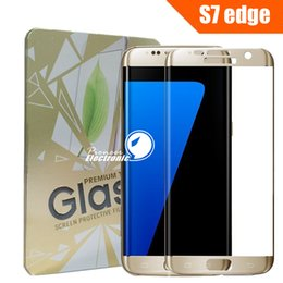 Plaque d'écran à vendre-Samsung Galaxy Note 7 S7 Edge Full Cover 3D curvées Side verre trempé Protecteur d'écran plaquage Chrome 0.2MM Antidéflagrant avec Retail Box