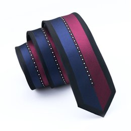The Latest Version Of The Classic Fashion Neck Tie Red Black And Blue Stripe Pattern Design Han Edition Male Fine Narrow Tie E-106
