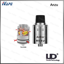 Wholesale 100 Original UD Youde Anzu RDA Tank Anzu Atomizer With Velocity Style Posts Adjustable Dual Airflow Design Crisp Massive Flavour Availabl