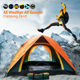 Outdoors Tents Camping Shelters for Two People Double Aluminum Rod Against the Water 4 Seasons Tent DHL Fast Shipping