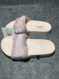 Wholesale 2016 New Leadcat Fenty Women s and girl s Villi Slippers Casual Shoes Beach Sandals Rihanna Pink Black and White Slippers