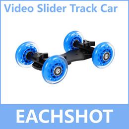 Gros-Table Dolly Car, en gros de haute qualité Mini Desktop Caméra ferroviaire Table Car Dolly Car Video Curseur piste + Livraison gratuite à partir de dolly vidéo curseur fabricateur