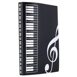 Music Sheet File Folder Holder Plastic A4 Size 40 Pockets -Black