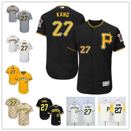 Wholesale 2016 New Flexbase Pittsburgh Pirates Jung Ho Kang Baseball Jerseys Black Gray White Gold Yellow Pull Down From China Top Quality